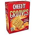 Cheez-It Grooves Crispy Cheese Cracker Chips, Original Cheddar, 9 oz Box