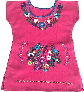 Vestito di cotone per le ragazze - Vestito estivo per ragazza - vestito per bambina 1 anno - vestito di fiori ricamati - v...