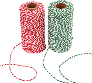 Sunmns Christmas Twine Cotton String Rope Cord for Gift Wrapping, Arts Crafts, 656 Feet (Multicolor A)