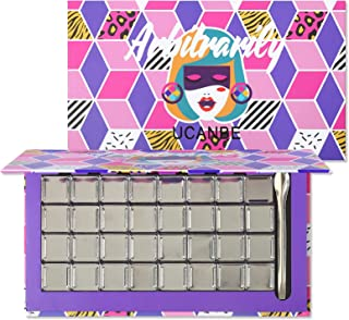 UCANBE Magnetic Empty DIY Makeup Palette with Spatula - Removable & Refillable 32Pcs Metal Pans for Eyeshadow Lipstick Blu...