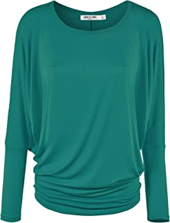 Lock and Love LL Womens Long Sleeve Batwing Dolman Top - - Made in USA