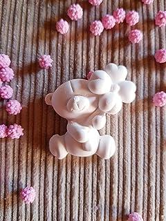 10 pz Gessetti profumati orsetto con fiore 4,5x4,5 cm