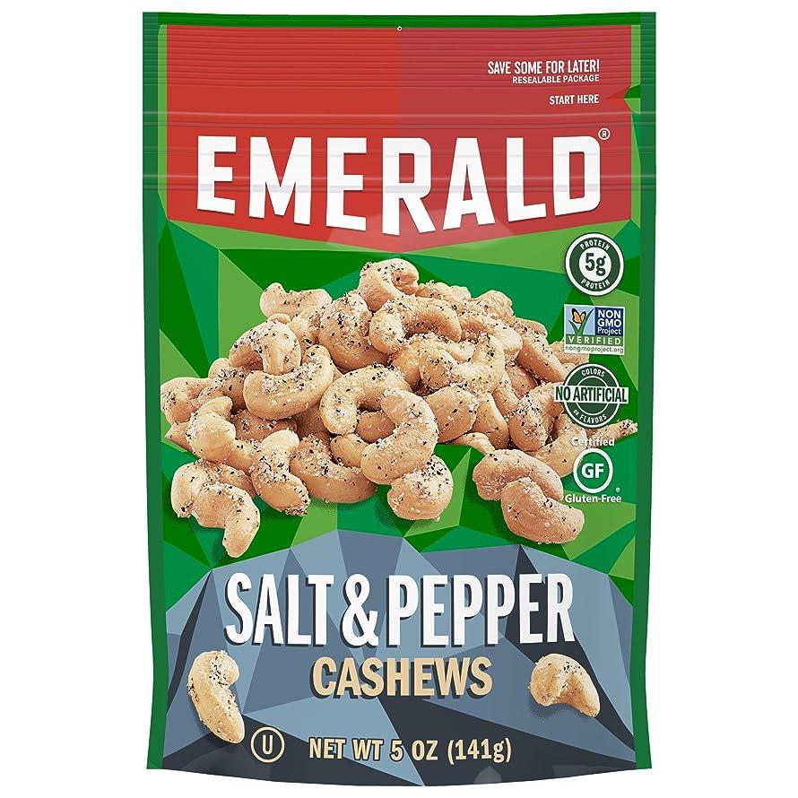 Emerald Salt & Pepper Cashews, (4 PACK),5 Ounces