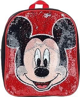 Mickey & Minnie Mini Mochila de 12 pulgadas con lentejuelas reversibles