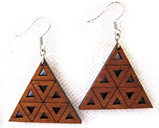 Fractal earrings, sierpinski triangle, Inspirational Jewelry, Math jewelry, science jewelry, Designer jewelry, modern jewelry