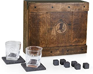 PICNIC TIME NFL Washington Redskins Whiskey Box Gift Set with Service for Two