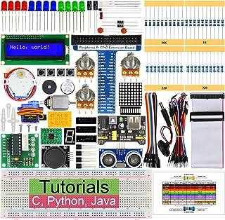 Freenove Raspberry Pi 4 B 3 B +のためのフリーノベ超音波スターターキット、358ページ詳細なチュートリアル、Python C Java、171アイテム、47プロジェクト、エレクトロニクスとプログラミングを学ぶ、はんだレスブレッドボード