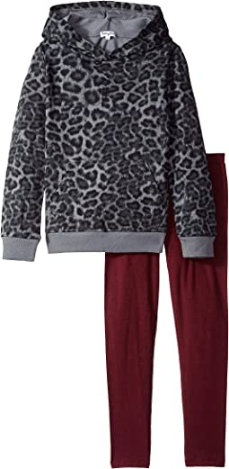 Splendid Littles - Leopard Print Hoodie Set (Little Kids)