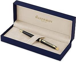 Waterman Hémisphère Ballpoint Pen, Gloss Black with 23k Gold Trim, Medium Point with..