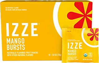 Izze Bursts Organic Fruit Snacks, Mango, 0.8oz Pouches, 18 Count (Halloween Pack)