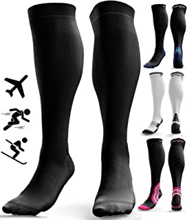 aZengear Compression Socks for Women & Men - 20-30 mmHg Flight Socks - Anti DVT - Travel - Running - Skiing - Athletics - ...