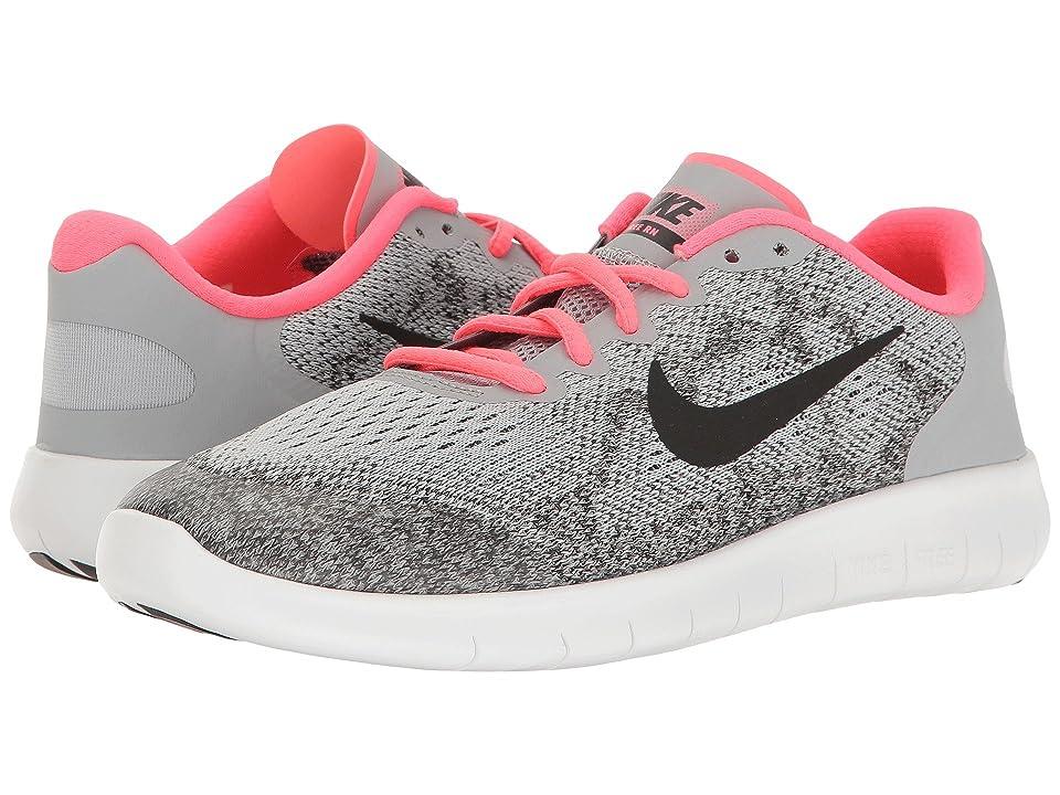 Nike Kids Free RN 2017 (Big Kid) (Wolf Grey/Black/Racer Pink/White) Girls Shoes