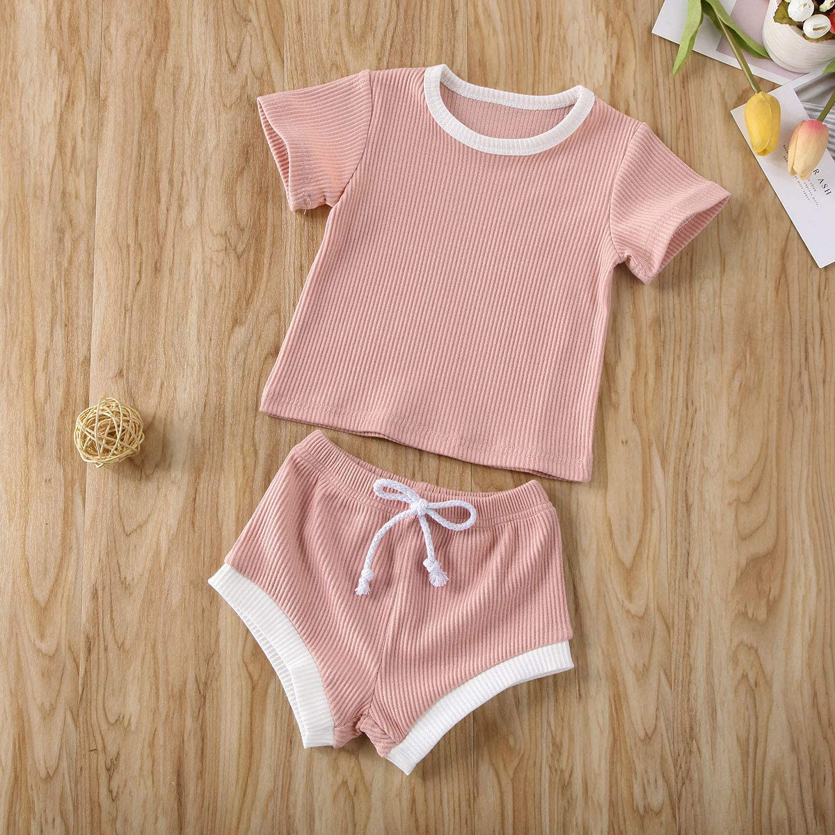 Baby Unisex Pajamas Organic Cotton Clothing Set for Infant Baby Boys Girls Top with Pants Set 2 Piece Outfit