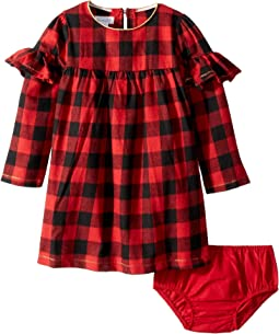 Buffalo Check Long Sleeve Dress (Toddler)
