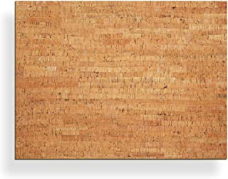 """20"""" x 15"""" Bulletin Board with Decorative Cork Veneer - New wall mount materials included (four 3M Command Strips)"""