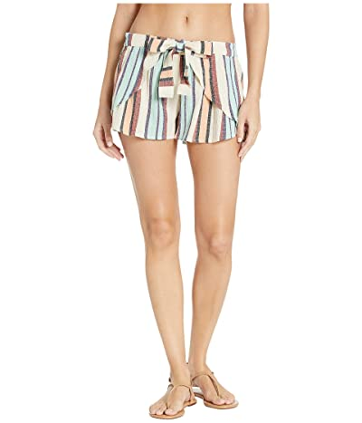 Roxy Lemon Chill Yarn-Dye Shorts Cover-Up (Marshmallow Lemon Chill Stripe) Women