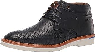 حذاء رجالي من Steve Madden DAZIER Chukka برقبة طويلة مصنوع من الجلد بلون أزرق داكن، مقاس 12 M US
