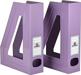 purple magazine holder
