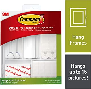 Command 17213-ES Kit Hangs up to 15 Pictures 38 Piece, White