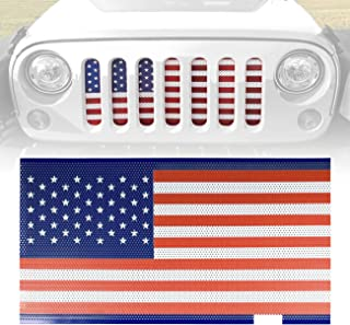 ICARS American Flag Front Mesh Grille Inserts for 2007-2018 Jeep Wrangler JK JKU Accessories & Unlimited Rubicon Sahara