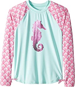 Fantastical Seahorses Long Sleeve Rashguard (Toddler/Little Kids/Big Kids)
