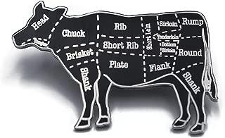 Begin Industries Cow Butcher Cuts Diagram Hard Enamel Lapel Pin (Silver)