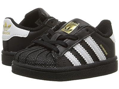 adidas Originals Kids Superstar (Infant/Toddler) (Black/White) Kids Shoes