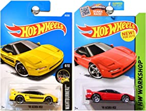 Hot Wheels 1990 Acura NSX in Yellow and Red SET OF 2