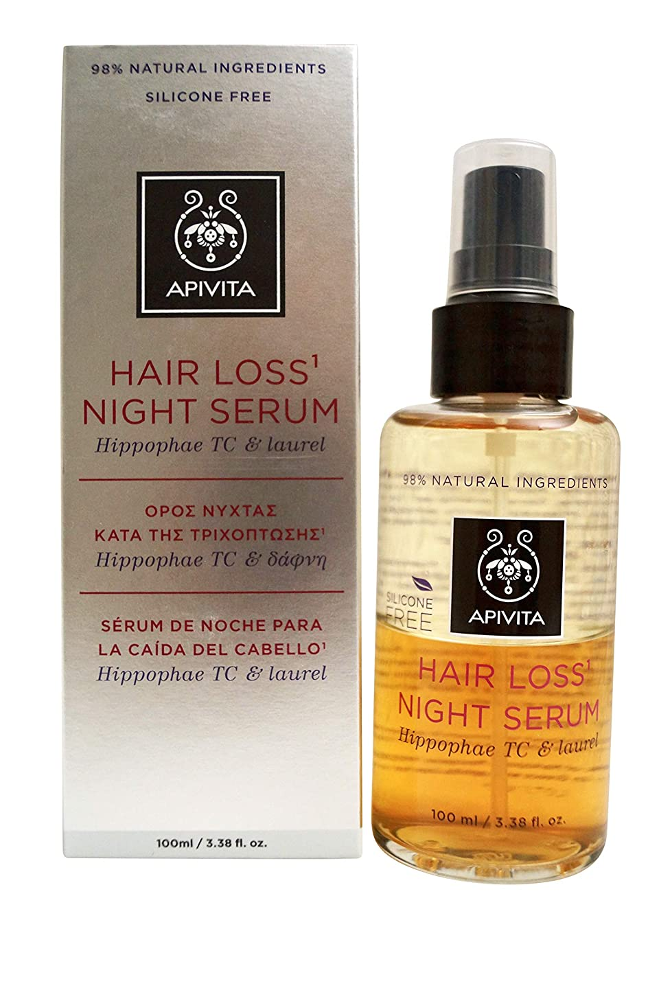 会計士に勝る抑制するアピヴィータ Hair Loss Night Serum with Hippophae TC & Laurel 100ml [並行輸入品]