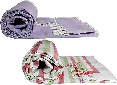 Riyashree Organic Cotton Silky Soft Bhagalpuri Dull chadar lite Blanket & Duvet ( 52*94 in ) Combo Pack of 2 Dull 08 14