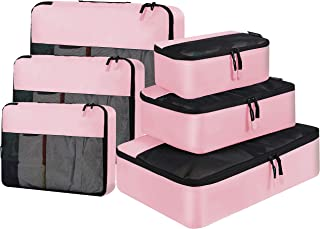 BAGAIL 6 Set / 8 Set Packing Cubes Luggage Packing Organizers for Travel Accessories