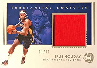 2018-19 Panini Encased Basketball JRUE HOLIDAY Game-Worn Jersey Card - New Orleans Pelicans - Serial # 11/99 (Only 99 Exist)
