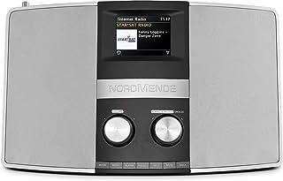Nordmende Transita 400   Internetradio (DAB+, UKW, Stereo Radio, W LAN, Spotify Connect, Bluetooth Audiostreaming, NFC, Farbdisplay, Wecker, Kopfhöreranschluss, 2 x 10 Watt, AUX In) schwarz/silber