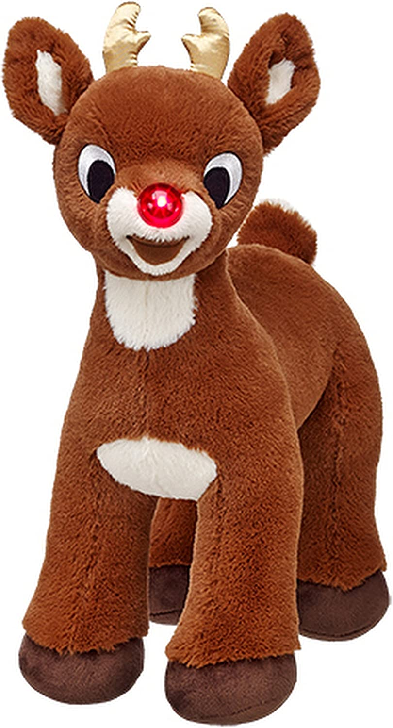 Build a Bear Workshop Rudolph rot Nosed Reindeer 50th Golden Anniversary Limited Edition 15 in. Stuffed Plush Toy Animal by Build A Bear