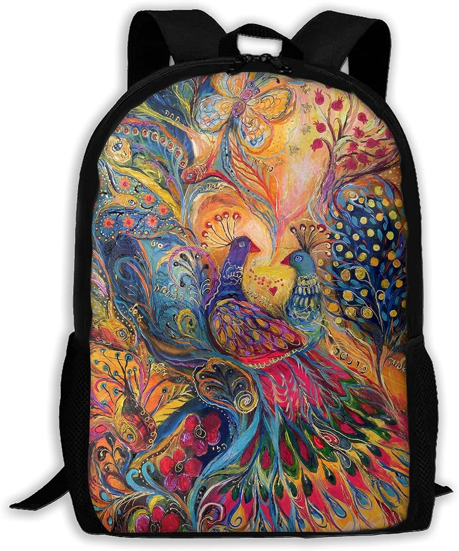 Dedication Colorful Phoenix Printed Backpack Teen Boys Bac 4 years warranty And Laptop Girls