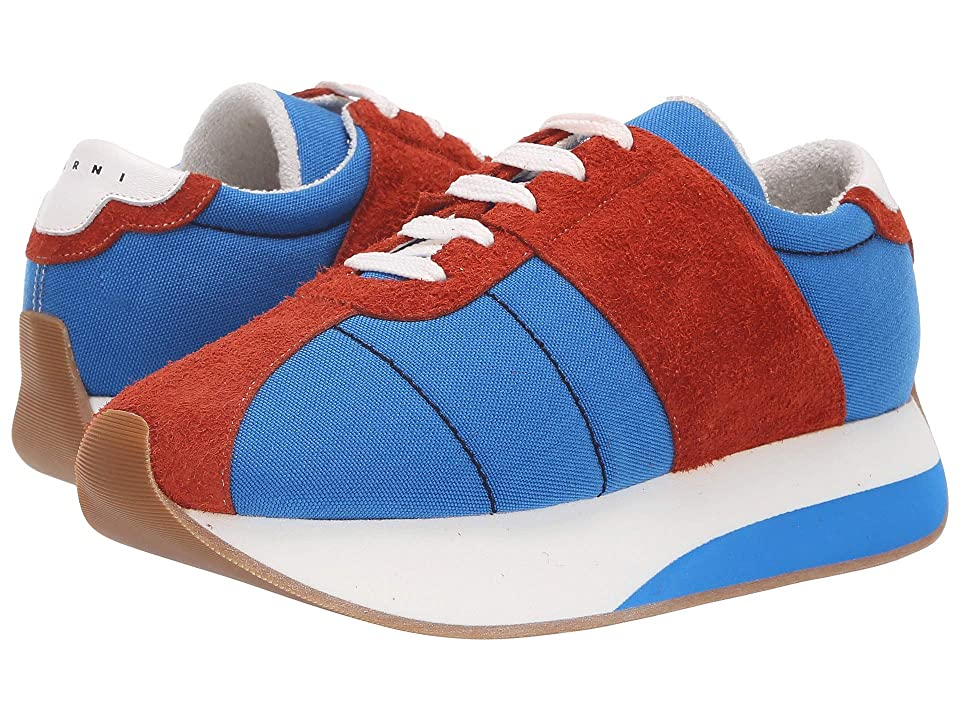 MARNI Retro Runner Sneaker (Cobalt/Rust) Men