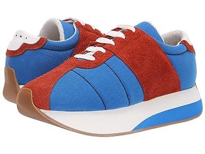 MARNI Retro Runner Sneaker (Cobalt/Rust) Men