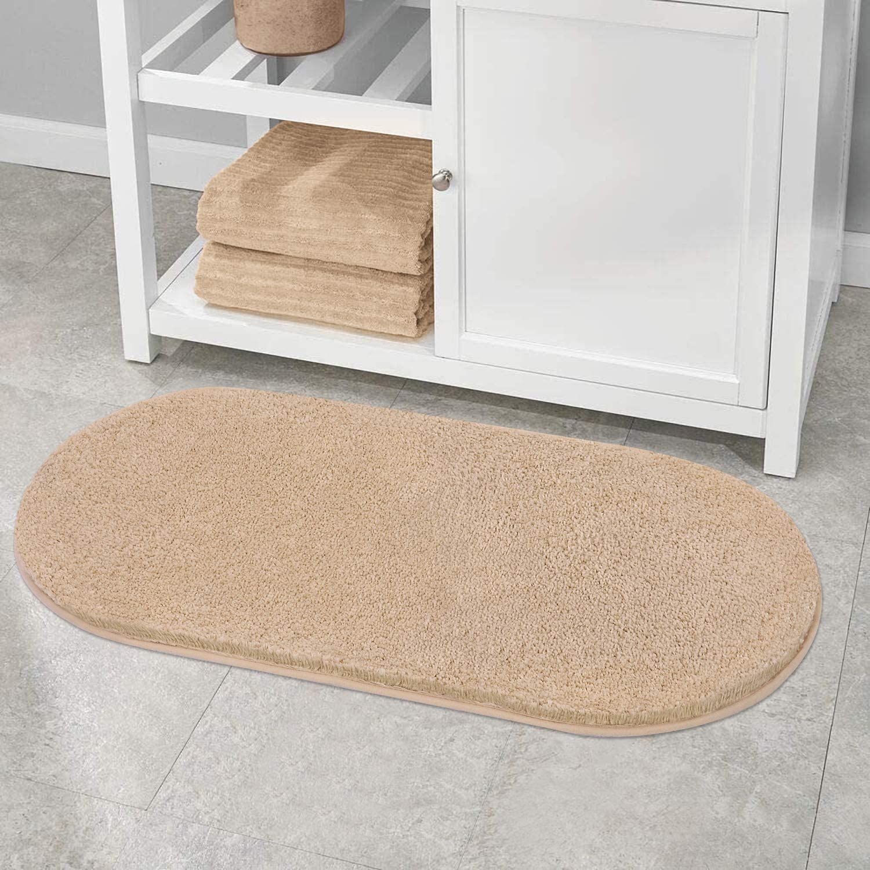 Bathroom 税込 Rugs Oval Spa Mat VANZAVANZU S Soft Ultra Absorbent Non 新品