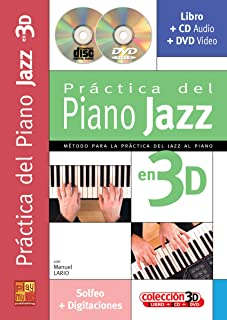 Lario Manuel Practica Piano Jazz 3D Pf Book/Cd/Dvd Spanish