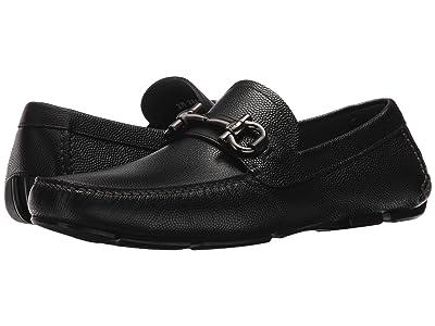Salvatore Ferragamo Parigi Driving Loafer (Black) Men