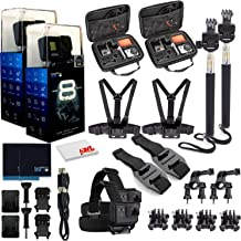 $793 » GoPro HERO8 Black Digital Action Camera - Waterproof, Touch Screen, 4K UHD Video, 12MP Photos, Live Streaming, Stabilization - with Mega Accessory Kit - All You Need Bundle - 2 Pack