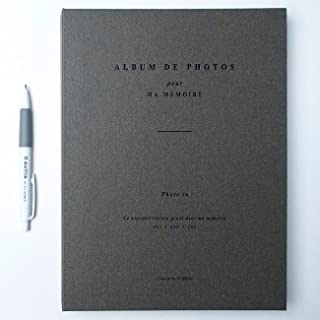 Photo in Photo Album with AHZOA Pencil, 50 Pages for 100 Photos, 7.9 x 10.7 Inches (Khaki Gray)