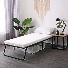 سرير ضيوف قابل للطي من LEISUIT قابل للطي - إطار سرير محمول قابل للطي مع مرتبة سميكة من الإسفنج الذكي لغرفة النوم والمكاتب