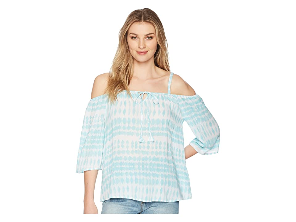 Tribal Cold Shoulder Blouse (Oasis) Women