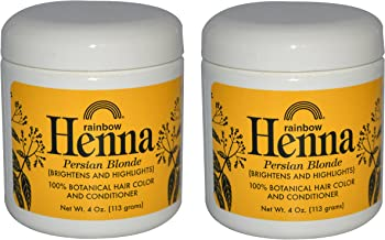 Rainbow Research Persian Blonde Hair Henna (Pack of 2) with Lawsonia Inermis, 4 oz.