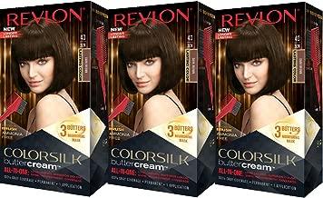 Revlon Colorsilk Buttercream Hair Dye, Dark Brown, Pack of 3