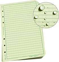 """product image for Rite In The Rain Weatherproof Loose Leaf Paper, 4.625"""" x 7"""", 32# Green, Universal Pattern, 100 Sheet Pack (No. 982)"""