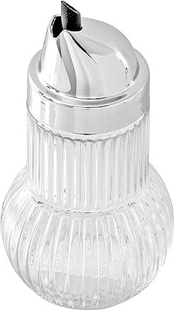 Preisvergleich für Fackelmann Allesgießer RUBIN, Milchgießer aus Glas, Ölspender für tropffreies Ausgießen (Farbe: Silber/Transparent), Menge: 1 Stück