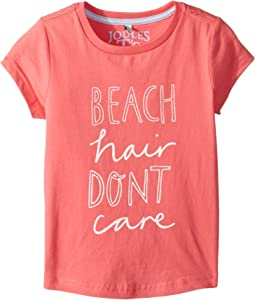 Joules Kids Beach Hair Don't Care Jersey T-Shirt (Toddler/Little Kids/Big Kids)