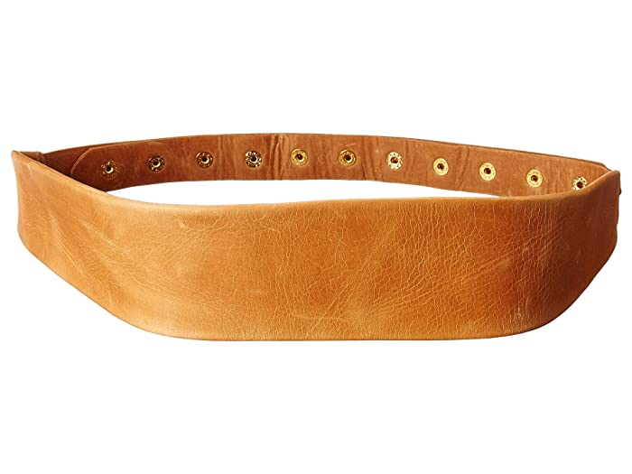 ADA Collection Naomi Belt w/ Studded Back (Tan) Women